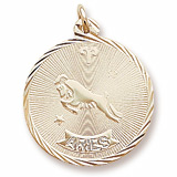 14K Gold Aries Constellation Charm by Rembrandt Charms