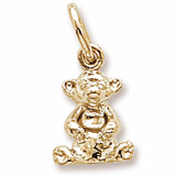 14K Gold Sitting Bear Accent Charm by Rembrandt Charms