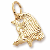14K Gold Eagle Accent Charm by Rembrandt Charms