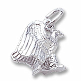 Sterling Silver Eagle Accent Charm by Rembrandt Charms