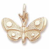 Gold Plate Spotted Wings Butterfly Charm by Rembrandt Charms