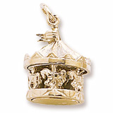 10K Gold Carousel Charm by Rembrandt Charms