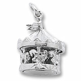 14K White Gold Carousel Charm by Rembrandt Charms
