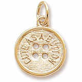 14K Gold Cute as a Button Charm by Rembrandt Charms