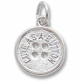 14K White Gold Cute as a Button Charm by Rembrandt Charms