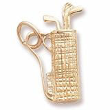 Gold Plated Plaid Golf Bag Charm by Rembrandt Charms