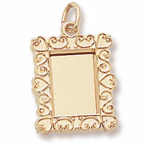14K Gold Scroll Pitcher Frame Charm by Rembrandt Charms
