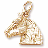 Gold Plate Horse Head Charm by Rembrandt Charms