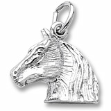 Sterling Silver Horse Head Charm by Rembrandt Charms