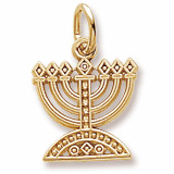 10K Gold Menorah Charm by Rembrandt Charms
