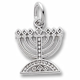 Sterling Silver Menorah Charm by Rembrandt Charms