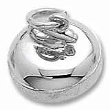 14K White Gold Curling Stone Charm by Rembrandt Charms