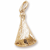 Gold Plate Tepee Charm by Rembrandt Charms