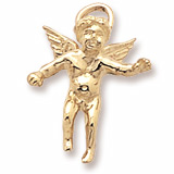 Gold Plate Cherub Angel Charm by Rembrandt Charms