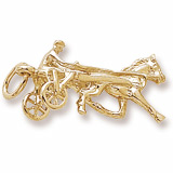 Rembrandt Horse Trotter Charm, Gold Plate