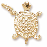 10K Gold Turtle Charm by Rembrandt Charms