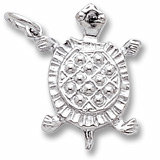 14K White Gold Turtle Charm by Rembrandt Charms
