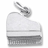Sterling Silver Petite Piano Charm by Rembrandt Charms