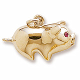 14K Gold Piggy Bank Charm by Rembrandt Charms