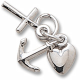 14K White Gold Faith, Hope and Charity Accent by Rembrandt Charms
