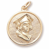 Gold Plated Graduation Charm by Rembrandt Charms