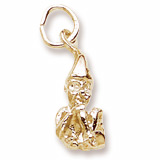 Gold Plate Leprechaun Charm by Rembrandt Charms
