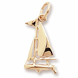 10K Gold Small Sloop Sailboat Charm by Rembrandt Charms