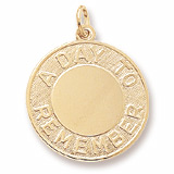 10K Gold A Day To Remember Disc Charm by Rembrandt Charms