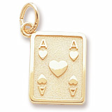 10K Gold Ace of Hearts Charm by Rembrandt Charms