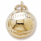 Gold Plate Baseball Charm by Rembrandt Charms