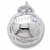 14k White Gold Baseball Charm by Rembrandt Charms