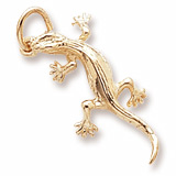 10K Gold Lizard Charm by Rembrandt Charms