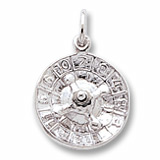 Sterling Silver Roulette Wheel Charm by Rembrandt Charms