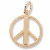 Gold Plate Peace Symbol Charm by Rembrandt Charms
