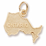 14K Gold Ontario Map Charm by Rembrandt Charms