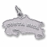 14k White Gold Costa Rica Map Charm by Rembrandt Charms