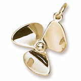 14K Gold Small Propeller Charm by Rembrandt Charms