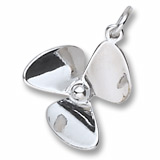 14K White Gold Small Propeller Charm by Rembrandt Charms