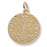 Gold Plate Aztec Sun Charm by Rembrandt Charms