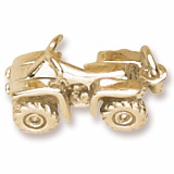 Gold Plated All Terrain Vehicle Charm by Rembrandt Charms