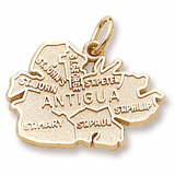 10K Gold Antigua Island Map Charm by Rembrandt Charms