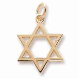 10K Gold Star of David Charm by Rembrandt Charms