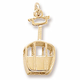 Gold Plated Skiing Gondola Charm by Rembrandt Charms