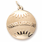 10K Gold Christmas Ornament Charm by Rembrandt Charms