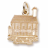 10K Gold Paul Revere House Charm by Rembrandt Charms