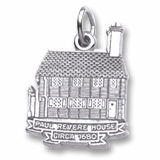 14K White Gold Paul Revere House Charm by Rembrandt Charms