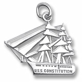14K White Gold USS Constitution Charm by Rembrandt Charms