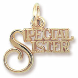 Gold Plate Special Sister Charm by Rembrandt Charms