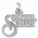 14K White Gold Special Sister Charm by Rembrandt Charms