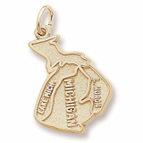 Gold Plated Michigan Charm by Rembrandt Charms